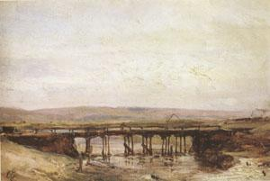 Eugene Isabey The Wooden Bridge (mk05) oil painting image