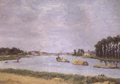 Francisco Oller y Cestero Banks of the Seine (mk06) oil painting image