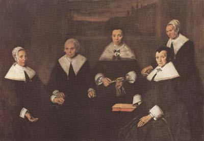 Frans Hals Regentesses of the Old Men's Almshouse in Haarlem (mk08) oil painting image