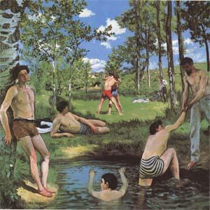 Frederic Baxille Bathers (mk09) oil painting image