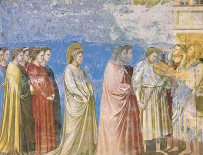 GIOTTO di Bondone The Marriage Procession of the Virgin (mk08) oil painting image