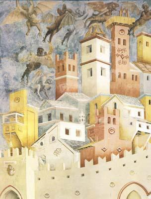 GIOTTO di Bondone The Devils Cast out of Arezzo (mk08) oil painting image