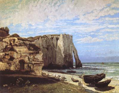 Gustave Courbet The Cliff at Etretat after the Storm (mk09) oil painting image