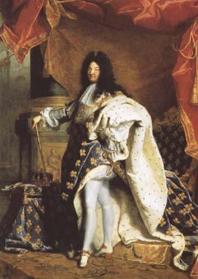 Hyacinthe Rigaud Portrait of Louis XIV (mk08)