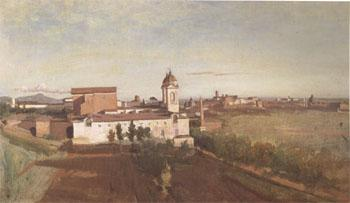 Jean Baptiste Camille  Corot The Church of Trinita dei Monti Seen from the Villa Medici (mk05)