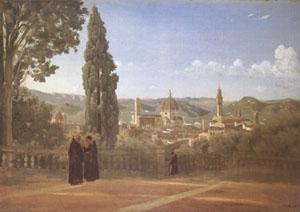 Jean Baptiste Camille  Corot Florence View from the Boboli Gardens (mk05)
