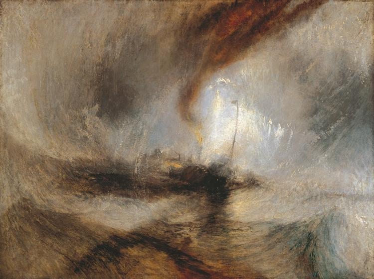 Joseph Mallord William Turner Snowstorm Boat at the Harbour Entrance (mk10) oil painting image