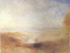 Joseph Mallord William Turner Landscape with Distant River and Bay (mk05) oil painting image
