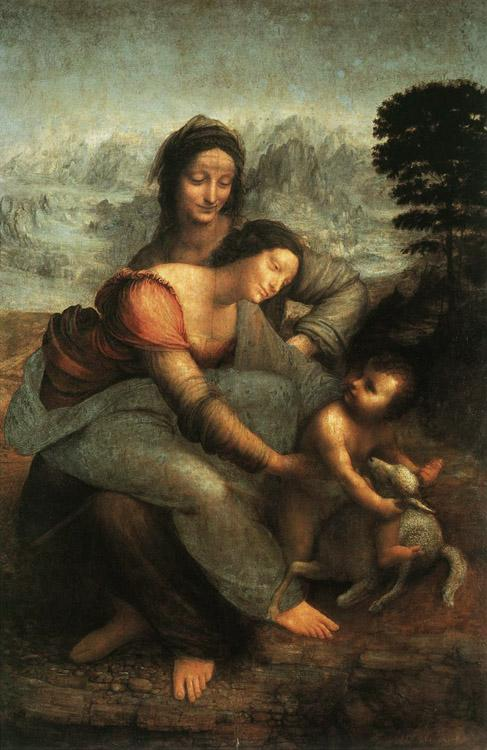 LEONARDO da Vinci The Virgin and St Anne (mk08)