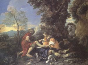 MOLA, Pier Francesco Herminia and Vafrino Tending the Wounded Tancred (mk05) oil painting image