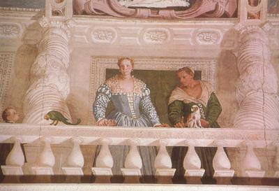 Paolo  Veronese Giustiana Barbaro and her Nurse (mk08) oil painting image