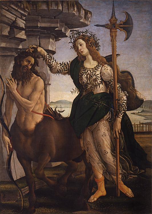 Sandro Botticelli Pallas and the Centaur (mk08) oil painting image