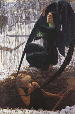 Carlos Schwabe The Grave-Digger's Death (mk19) oil painting image
