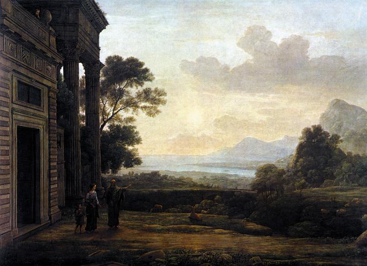 Claude Lorrain Landscape with Abraham Expelling Hagar (mk17) oil painting image