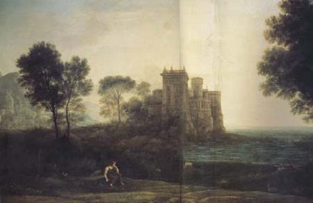 Claude Lorrain Landscape with Psyche at the Palace of Cupid (mk17)