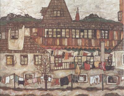 Egon Schiele House with Drying Laundry (mk12)