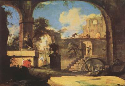 Francesco Guardi Capriccio (mk08) oil painting image