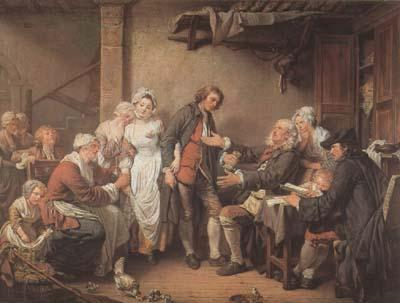 Jean Baptiste Greuze L'Accordee du Village (mk08) oil painting image