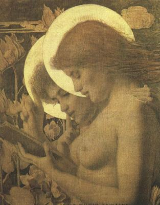 Louis Welden Hawkins The Haloes (mk19) oil painting image