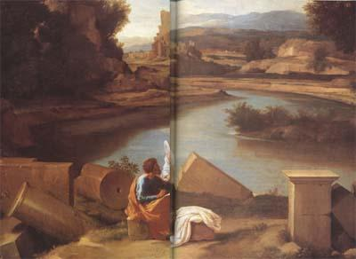 Nicolas Poussin Landscape with Saint Matthew and the Angel (mk10)
