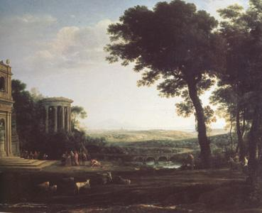 Claude Lorrain Landscape with a Sacrifice to Apolio (n03) oil painting image