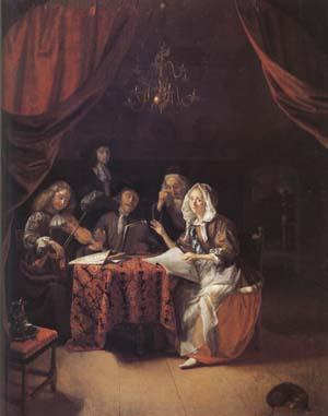 Godfried Schalcken A Family Concert (mk25 oil painting image