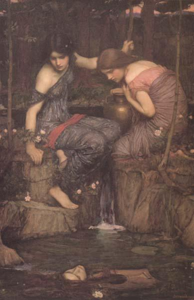 John William Waterhouse Nymphs finding the Head of Orpheus (mk41) oil painting image