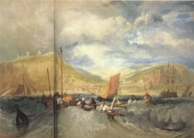 Joseph Mallord William Turner Hastings:Deep-sea fishing (mk31) oil painting image