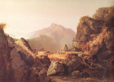 Thomas Cole scene from Last of the Mohicans (nn03) oil painting image