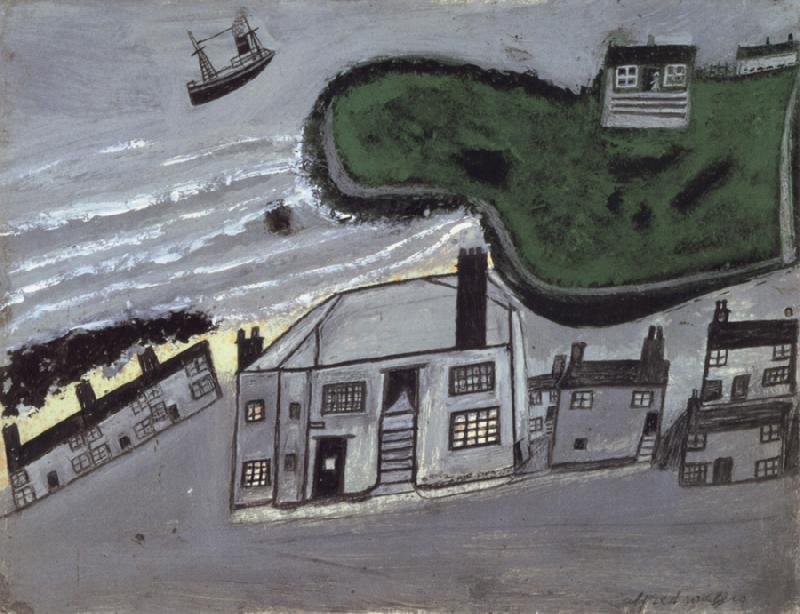 Alfred Wallis The Hold House Port Mear Square Island port Mear Beach