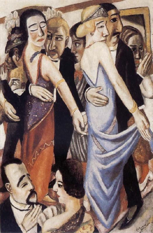 Max Beckmann Dance in Baden-Baden oil painting image