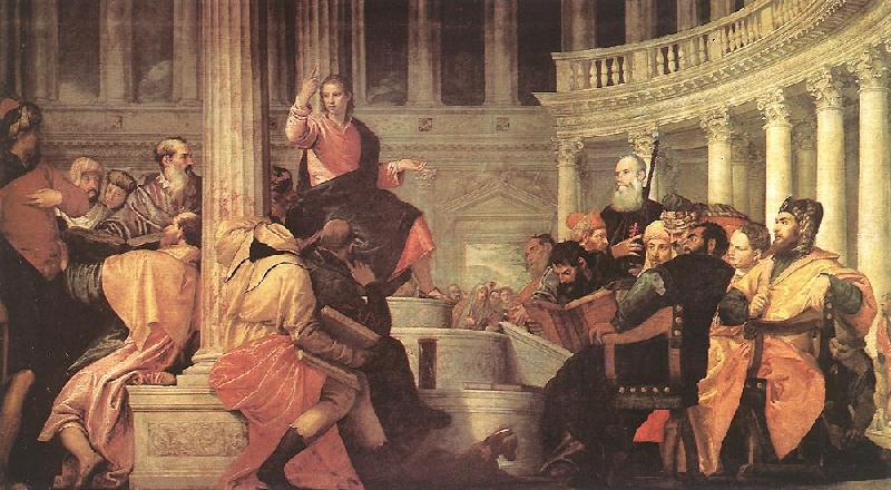 Paolo  Veronese Jesus among the Doctors in the Temple oil painting image