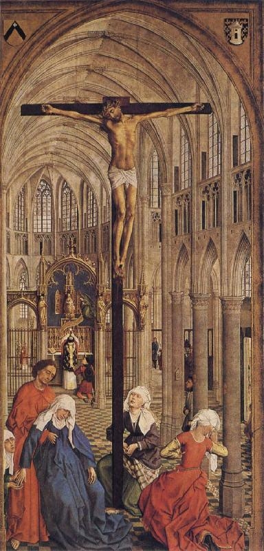 Roger Van Der Weyden Crucifixion in a Church oil painting image