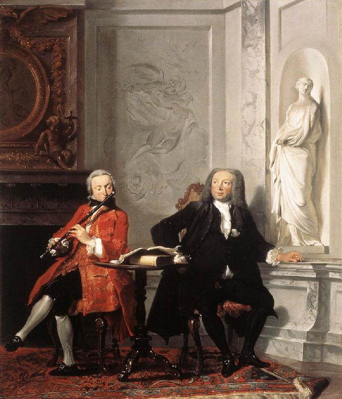 TROOST, Cornelis Jeronimus Tonneman and his Son oil painting image