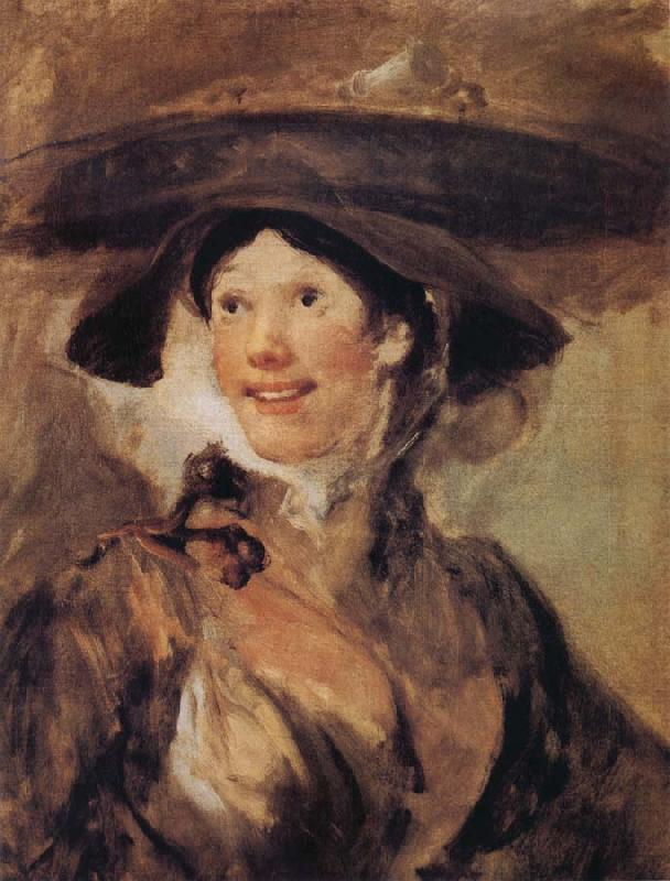 William Hogarth The Shrimp Girl oil painting image